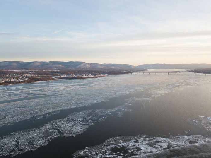 Hudson River from Newburgh, NY Drone  Freezing Frozen Hudson River Ice New York Serenity Travel Winter Aerial View Beauty In Nature Chilly Cold Day Frigid Nature No People Outdoors River Serene Snow Upstate New York Water