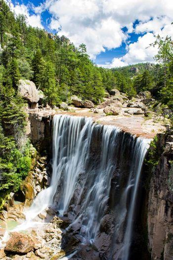 Cusarare waterfall Waterfall Water Long Exposure Longexposure Woods Sky And Clouds Sky