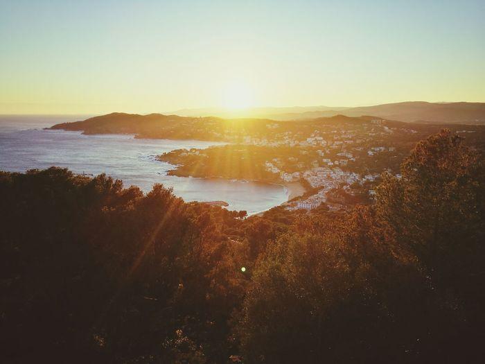 Miles Away Sunset Tranquility Llafranch Calella De Palafrugell. Far De Sant Sebastia Beach