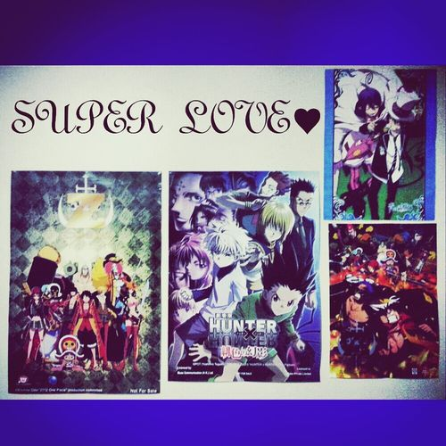 My darlings on my wall! ♥_♥ Anime OnePiece Hunterxhunter Ao_no_exorcist