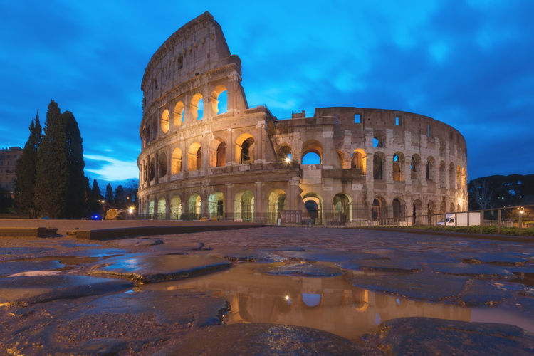 Blue hour at Colosseum EyeEm Best Shots EyeEm Nature Lover EyeEm Selects EyeEm Gallery EyeEmNewHere Rome Ancient Ancient Civilization Arch Archaeology Architecture Building Exterior Built Structure Cloud - Sky History Italy No People Old Ruin Outdoors Sky The Past Tourism Travel Travel Destinations Moving Around Rome The Great Outdoors - 2018 EyeEm Awards