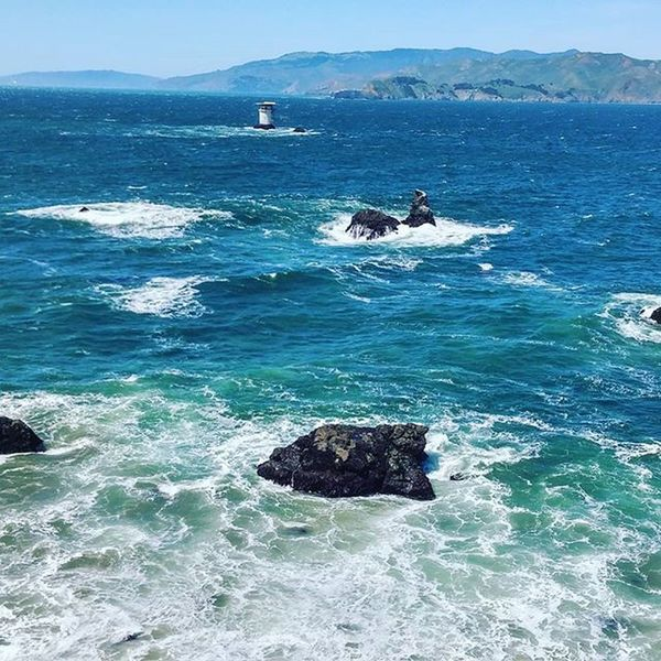 Sanfrancisco LandsEnd Ocean Water Rocks Nature Stunning Pacific Blue Wave