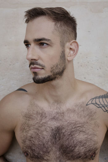 Romain in late summer ... Fun Love Piercing Piercings Sportsman Beard Close-up Day Gay Handsome Handsome Boy Indoors  Leisure Activity Lifestyles One Man Only One Person People Portrait Real People Shirtless Skin Standing Tattoo Young Adult Young Men This Is Masculinity A New Beginning This Is Natural Beauty