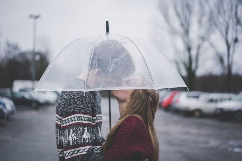 Love is an umbrella ☔️❤️ Liebe Love Kiss Regen EyeEm Selects Umbrella Wet Rain Protection Cold Temperature Winter Focus On Foreground Warm Clothing Lifestyles Real People One Person Women Security Water Standing Rainy Season Nature Adult Holding Snow