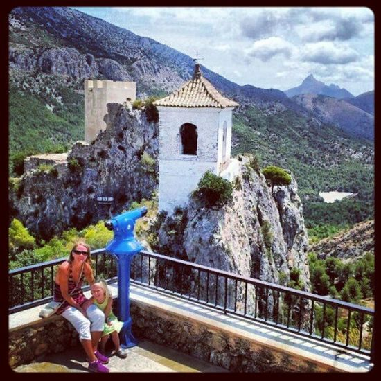 Summer memories from Guadalest,Spain Summer SPAIN Guadalest Fort castle historical architecture northcostablanca