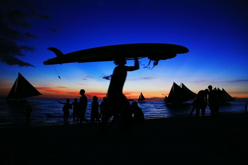 Surfboard Silhouette Silhouettes Silhouette_collection Silhouette_collection Silhouettes Of People Silhouette Photography Silhouettes And Shadows Silhouettes Of Sunset Silhouettephotography Sunset_collection Sunset Silhouettes Sunset_captures Boracay Philippines BoracayIsland Choosephilippines Colour Of Life Welcome To Black