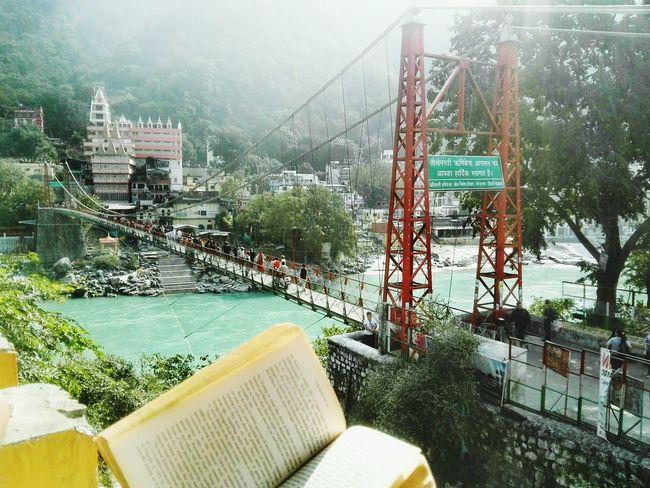 City Water Day India Indianphotography Rishikesh Rishikesh Ganga Aarti Rishikesh. Brigdes Bridge - Man Made Structure Brigdeovertroutwater Ganges River