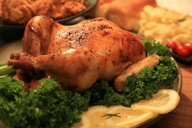 Close-up of tandoori chicken