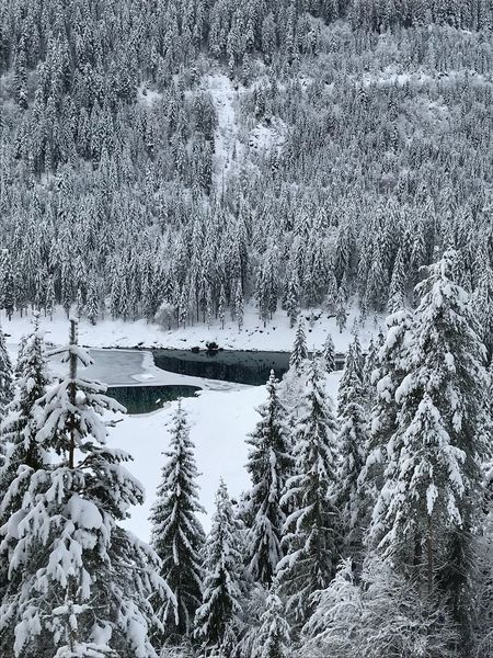 Switzerland Winterwanderung Winterhike Winterwonderland Lake Cauma Graubünden Flims Reflection Water Backgrounds Full Frame Day No People Nature Lake Outdoors Beauty In Nature