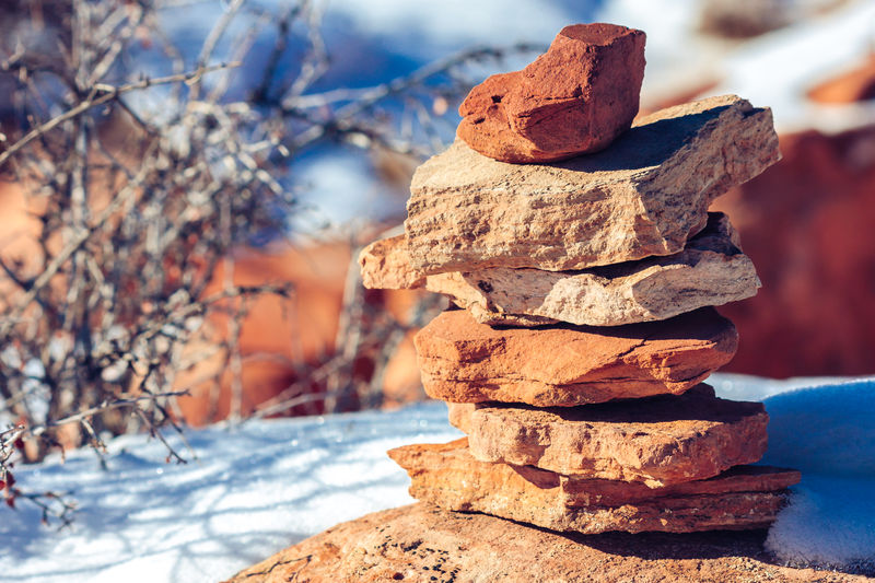 Stack Of Rocks At Dead Horse Point State Park