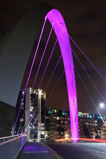 Squinty Bridge, Glasgow Clyde Arc Glasgow  Stuart Brown Photography Magenta