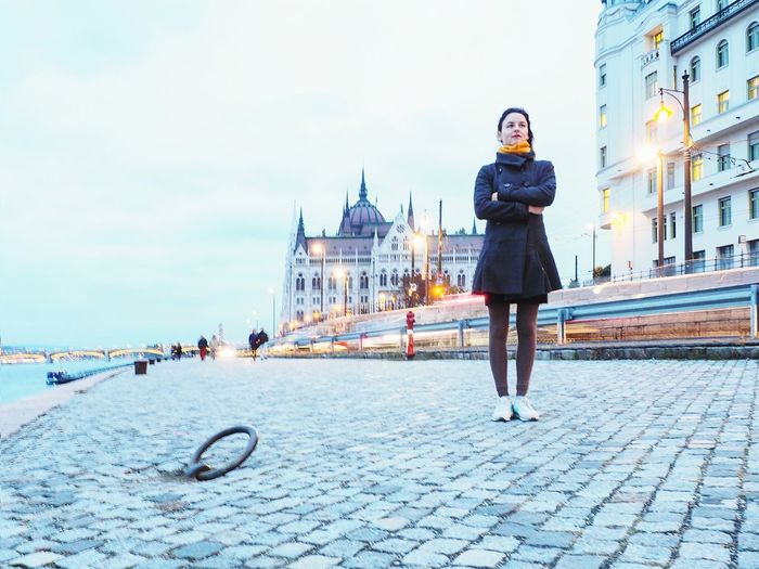 Only Women One Woman Only Adult City Full Length Adults Only One Person City Life People Fashion Outdoors Portrait Travel Destinations Young Adult One Young Woman Only Architecture Beautiful Woman Women Eyeglasses  Cityscape Parliament Parlament Budapest Hungary Parliament Building