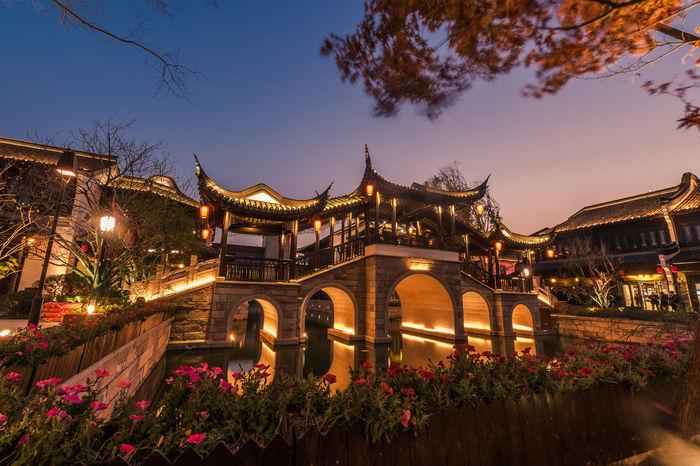 Night Outdoors Travel Destinations Landscape Cityscape City Architecture Nikonphotography Jiashan Zhejiang Province Bridge Nightphotography