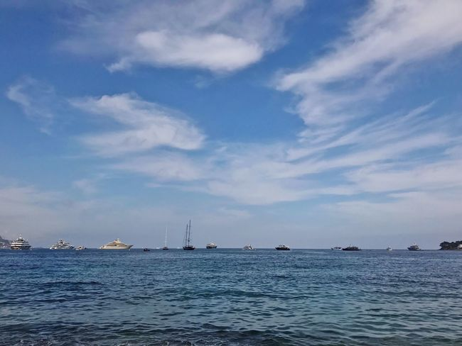 Sky Sea Cloud - Sky Nautical Vessel Water Outdoors Blue Day Nature Scenics Waterfront Tranquility Ship Beauty In Nature Mediterranean  French Riviera Côte D'Azur Landscape Yacht Yachting EyeEmNewHere