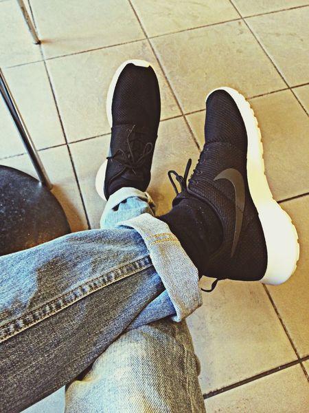 My new babies! Nike Air  chillin @ Starbucks