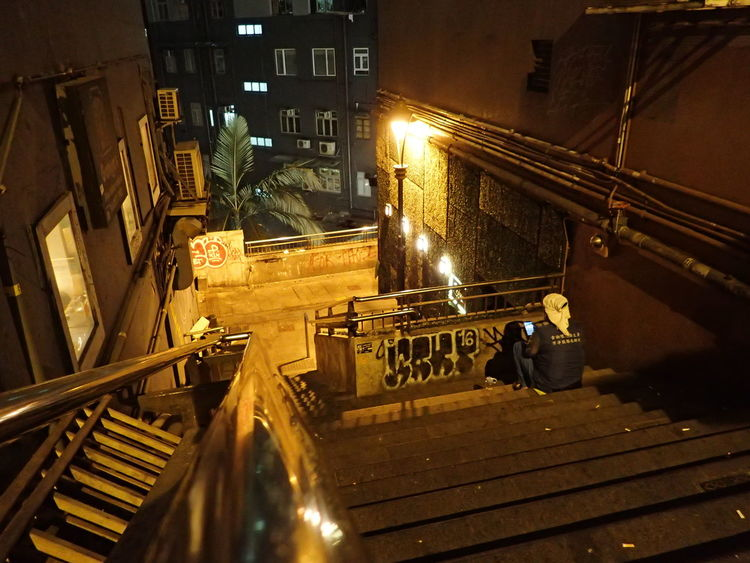 Quiet Solitude Alone In The Dark Alone Solitude And Silence Solitude Quiet Moments Back Alleys Solitary Moments Solitary One Person Night Illuminated Night Scene Steps Down The Street Photographer - 2017 EyeEm Awards Adult Loneliness And Sadness Loneliness Loneliness In The City Emptiness Place Of Heart An Eye For Travel