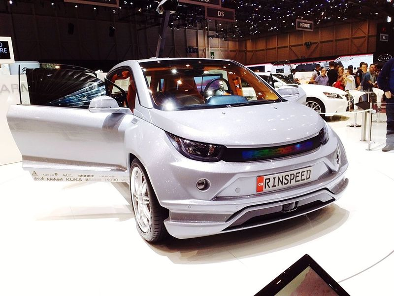 What a connected car look like Rinspeed Connected Car Smart Car Sensors GenevaInternationalMotorShow2015 GIMS2015 Swiss