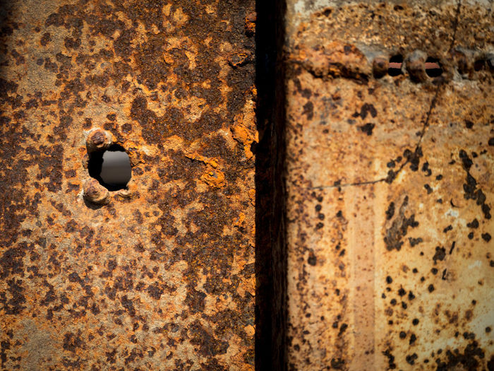 Rusted steel plate Industrial Iron Rust Wall Abstract Backgrounds Close-up Day Design Dirty Grunge Matalic Metal No People Old Outdoors Pattern Plate Rough Rusted Rusty Sheet Steel Texture Vintage