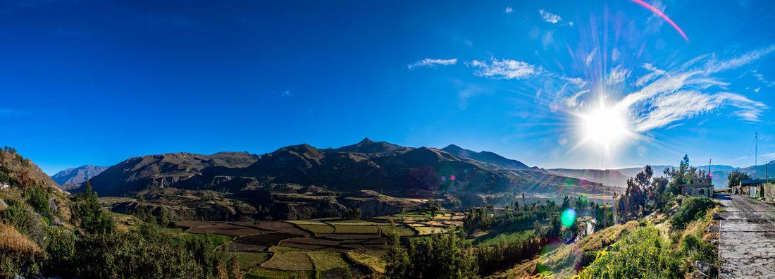 Amazing View Beautiful Nature Blue Sky Breathtaking Canyon Colca Canyon Landscape Panorama Peru South America Stunning Sun Travel Destinations Traveling The Great Outdoors - 2017 EyeEm Awards EyeEmNewHere