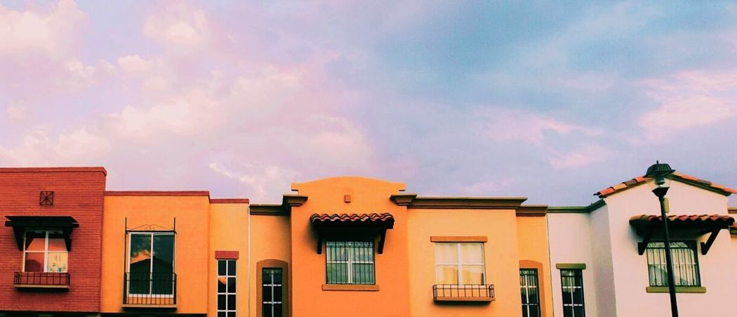Another house picture House Houses Houses And Windows Sunset Pastel Colors Minimalism Colorful Colorful Houses Colorful Life Color Photography Colorful Photo Windows Eyeemedit EyeEmNewHere Orange White The Week On EyeEm
