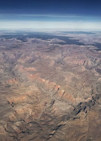 Walls of the Grand Canyon. Western USA Erosion River System Drainage Rugged Landscape Grand Canyon Landscape Scenics Nature Tranquil Scene Geology Aerial View Physical Geography Beauty In Nature High Angle View Arid Climate Day