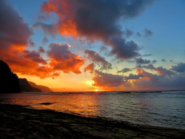 Beach Photography Kauai Nature Rain Beach Beauty In Nature Kauai♡ Ocean Rainbowsky Sunrise Sunrise_sunsets_aroundworld Sunset Sunset #sun #clouds #skylovers #sky #nature #beautifulinnature #naturalbeauty #photography #landscape Perspectives On Nature Be. Ready.