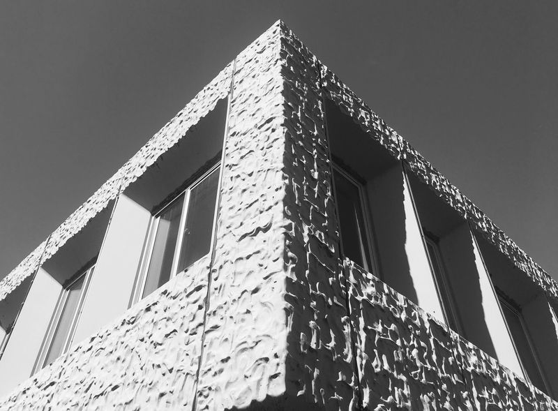 Brutalist concrete building Architecture Blackandwhite Built Structure Building Exterior Low Angle View IPhoneography The Architect - 2017 EyeEm Awards The Architect