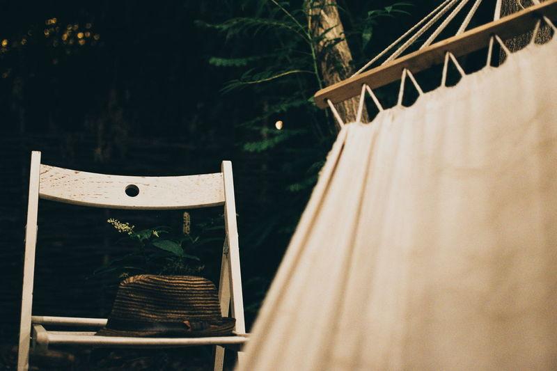 Empty Chair By Hammock