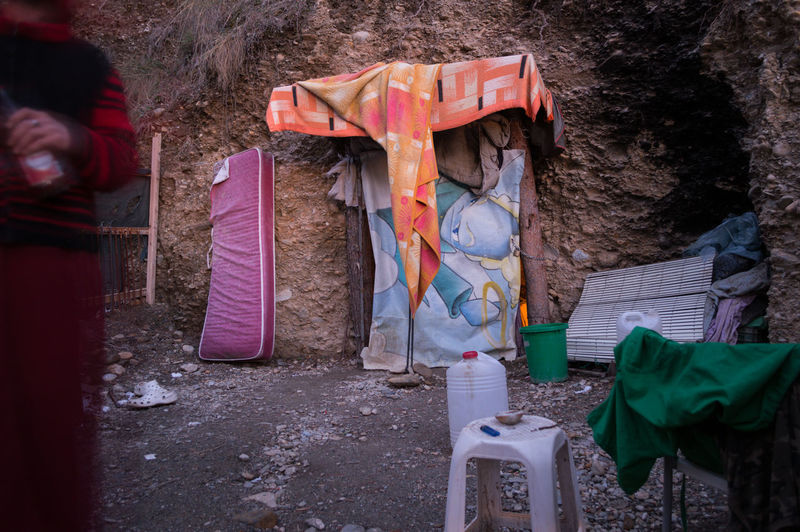 Granada, Spain SPAIN Andalusia Sacromonte Cave No People Day Tree Outdoors Dirt Human Representation Plant Nature Paint Representation Land Architecture Graffiti Wood - Material Protection Wall Absence Security Plastic Container Obscured Face