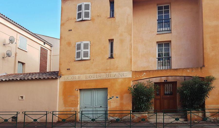 Architecture Building Exterior Façade School ✌ Provence Ecole Louis Blanc Boulevard