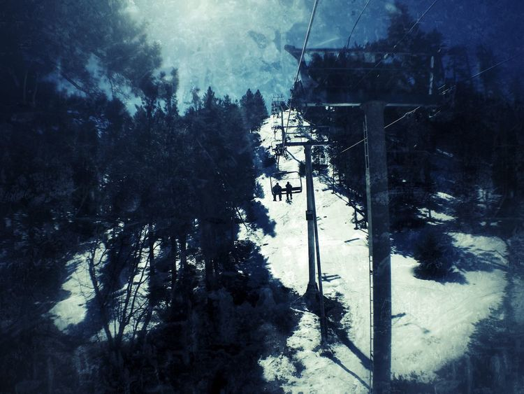 Drastic Edit Check This Out Chairlift Edited Hanging Out From My Point Of View Atmospheric Mood Taking Photos Snow ❄