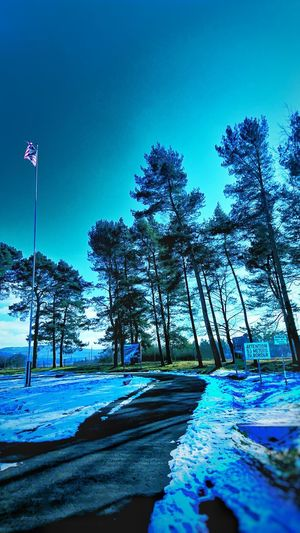 Outside, flags, border, point alpha, snow, day, thuringian, east Germany, cold war, Cold War East Germany Thuringia Point Alpha Blue Tree Nature Flag No People Outdoors Beauty In Nature Sky Snow Day Cold Temperature
