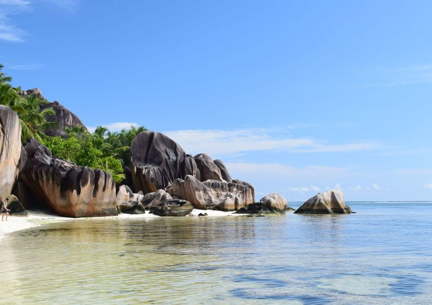 Beach paradise EyeEmNewHere Seychelles Anse Source D'argent Paradise Beach Sea Rock - Object Nature No People Beauty In Nature Outdoors Beach