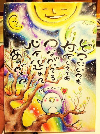 Penguin Art My Drowing 誕生日を迎え、改めて出会ってくださった皆さんに感謝。。私は幸せ者です。 YohkoAmaterraArt