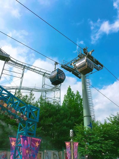 Everland Sky Low Angle View Tree Fuel And Power Generation No People Built Structure Hanging Cable Growth Electricity  Day Outdoors Cloud - Sky Architecture Technology Nature iPhone 6S Plus