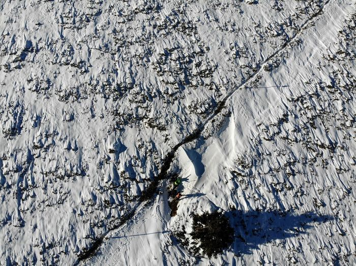 Aerial Dronephoto Drone  High Angle View Nature Day Sunlight No People Plant Snow Outdoors Winter Cold Temperature Land Growth Field Beauty In Nature Tree Full Frame Shadow White Color Covering