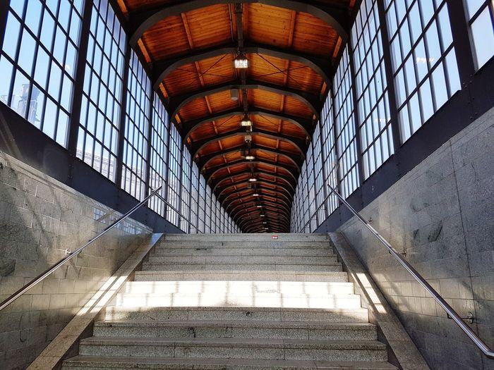 Steps at railroad station