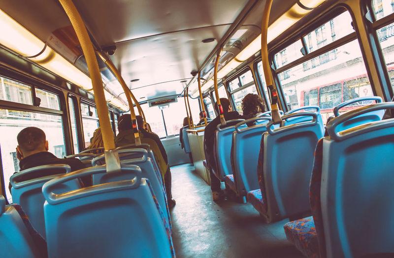 Panoramic shot of train