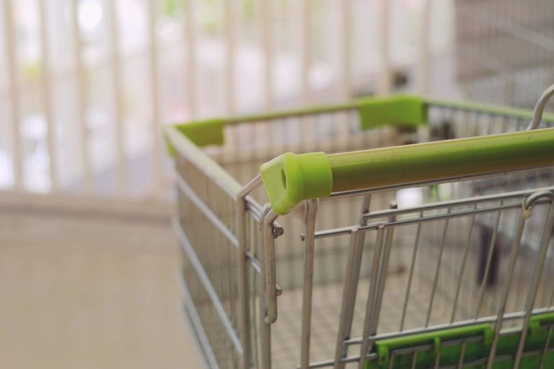 Shopping cart at supermarket Business Shopping Cart Shopping Trolley Basket Sale Sell Buy Customer  Marketing Economic Economy Credit Store Shop Payment Growth Rich Purchase Investment Commercial Cart Income Earning Grocery