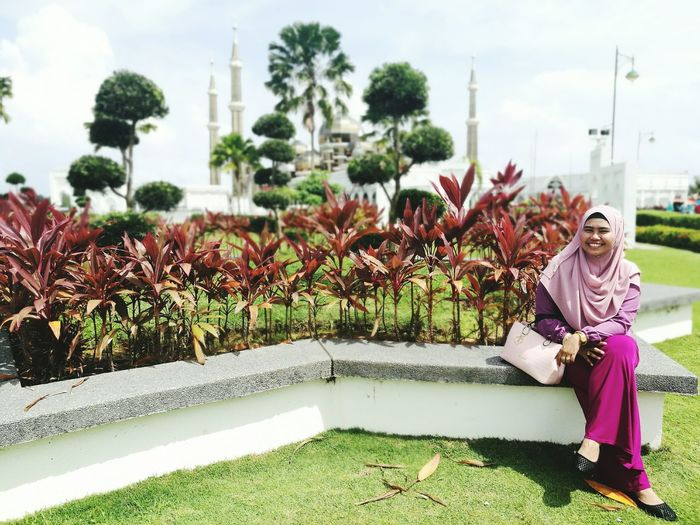 Fifilifestory Outdoors Sky Flower One Person Smiling Cheerful Vacations Mosque NewYear Outdoors Photography