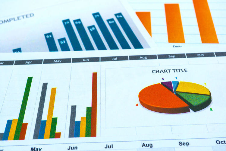 Charts and Graphs paper. Financial, Accounting, Statistics, Analytic research data and Business company concept Business Company Financial District  Growth Market Meeting Reporting Research Statement Account Analytics Bar Charts Communication Concept Data Diagram Earnings Graph Information Money Paper Pile Reportage Statistics