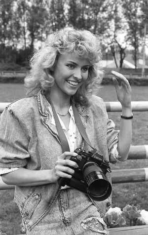 Analog Photography B&w Photography B&W Portrait Beautiful Woman Beutiful Women Camera - Photographic Equipment Canon Focus On Foreground Glamour Girl Holding Hp5+ Leisure Activity One Woman Only Only Women Photography Themes Portrait Portrait Of A Woman Pretty Woman Smiling Vintage Photo Vintage Style Young Women