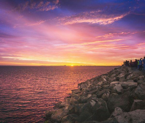EyeEm Selects Sunset Sea Water Beach Sky Horizon Over Water Landscape Cloud - Sky