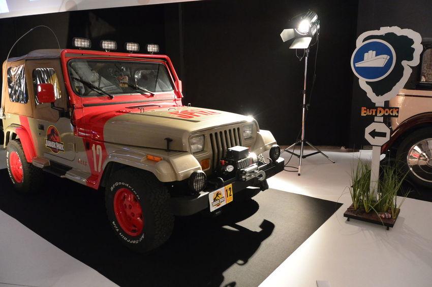 American Cars East Dock Roadsign Indoors  Jeep Jeep Safari Jeep Wrangler  Jurassic Park Movie Cars Paris International Motor Show 2016