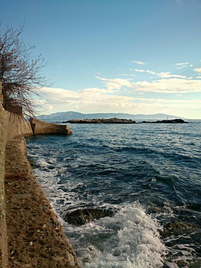 Seaside Landscape_photography Clouds And Sky Sea And Sky Beautiful Sea Cityscapes Seaview Seascape @ Kavala In Greece  Winter Walk
