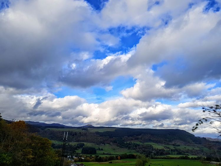 Beautiful views in Aberfeldy Cloud - Sky Nature Sky Dramatic Sky Beauty In Nature Outdoors Blue Scenics Rural Scene Day No People Mountain Landscape The Week On EyeEm Samsung Galaxy Note 8 Today's Hot Look Samsungphotography Mobilephotography Travel Destinations