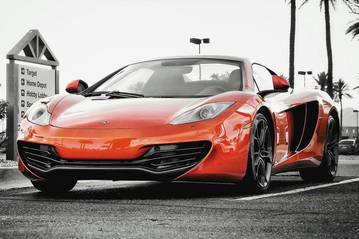 McLaren Orange Car Car Show Car Porn Fast Blackandwhite Check This Out Sportscar Photography Arizona Loud
