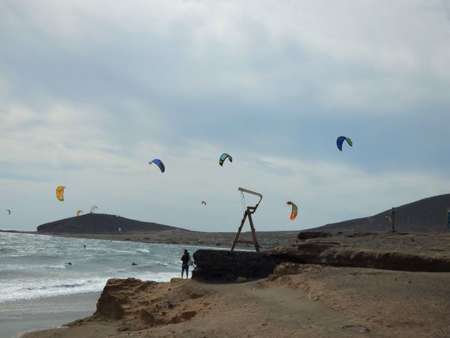 Adventure Coulors El Médano Extreme Sports Flying Fun Holidays Kite Kitesurfing Leisure Activity Outdoors Sea Sport Tenerife Vacations Water Weekend Activities Wildlife Surf's Up