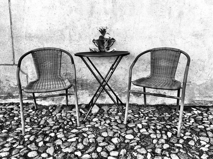 Have a Seat Seat No People Day Nature Chair Table Architecture Outdoors Sunlight Shadow Wall - Building Feature Built Structure Pattern Empty Food And Drink
