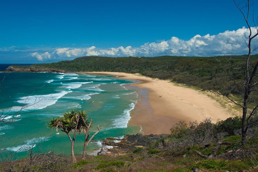A beautiful view from Hell's Gate to a lonely beach. Paradise? Australia Australien Beach East Coast Hell's Gate Hiking Landscape National Park Nature No People Noosa Noosa Heads Ocean Outdoor Outdoors Queensland Relaxing Scenics Sea Sunshine Coast Travel Travel Destinations Water